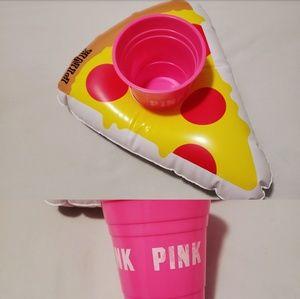 VS PINK pool float & cup.